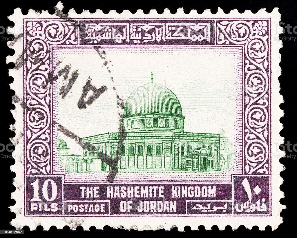 Jordan Postage Stamps stock photo