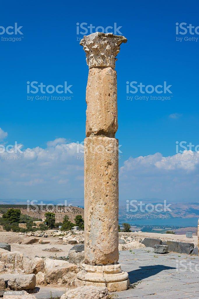 Jordan the Umm Qais Roman ruin stock photo
