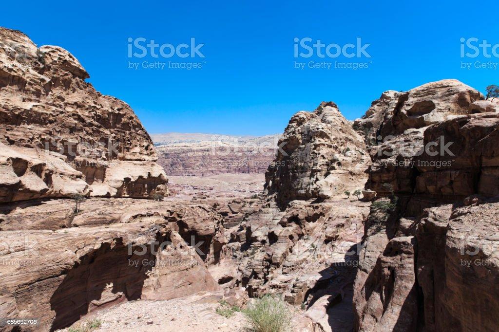 Jordanian desert at Petra royalty-free stock photo