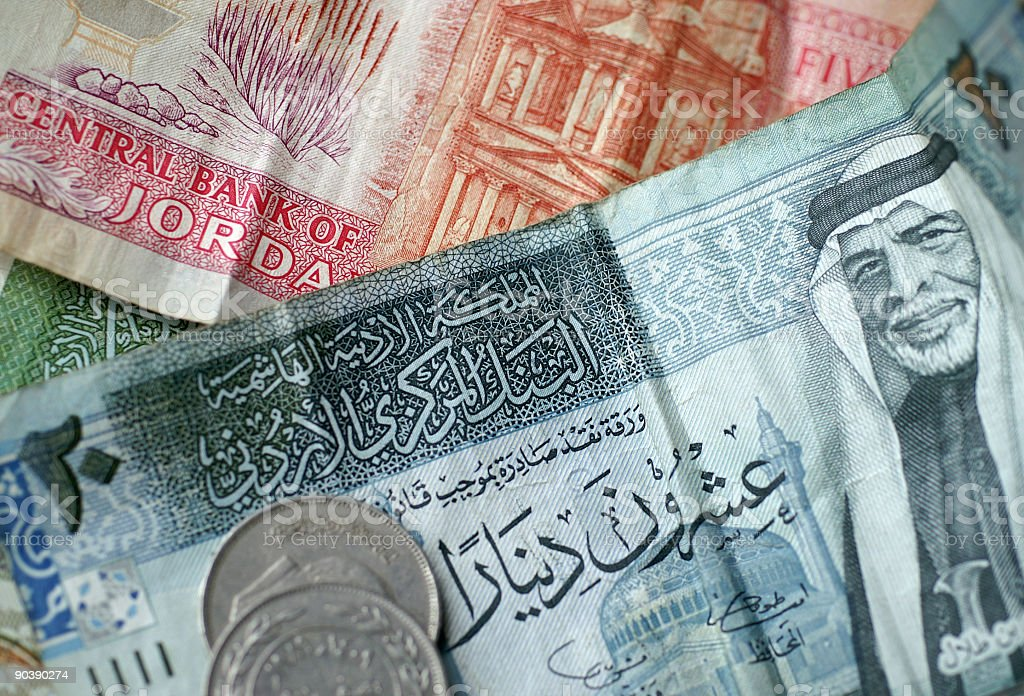 Jordanian Dinars royalty-free stock photo