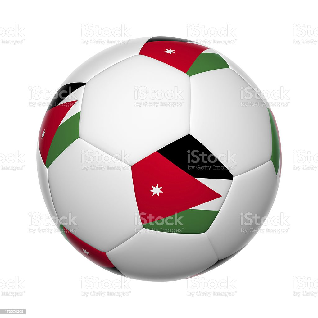 Jordanian soccer ball stock photo