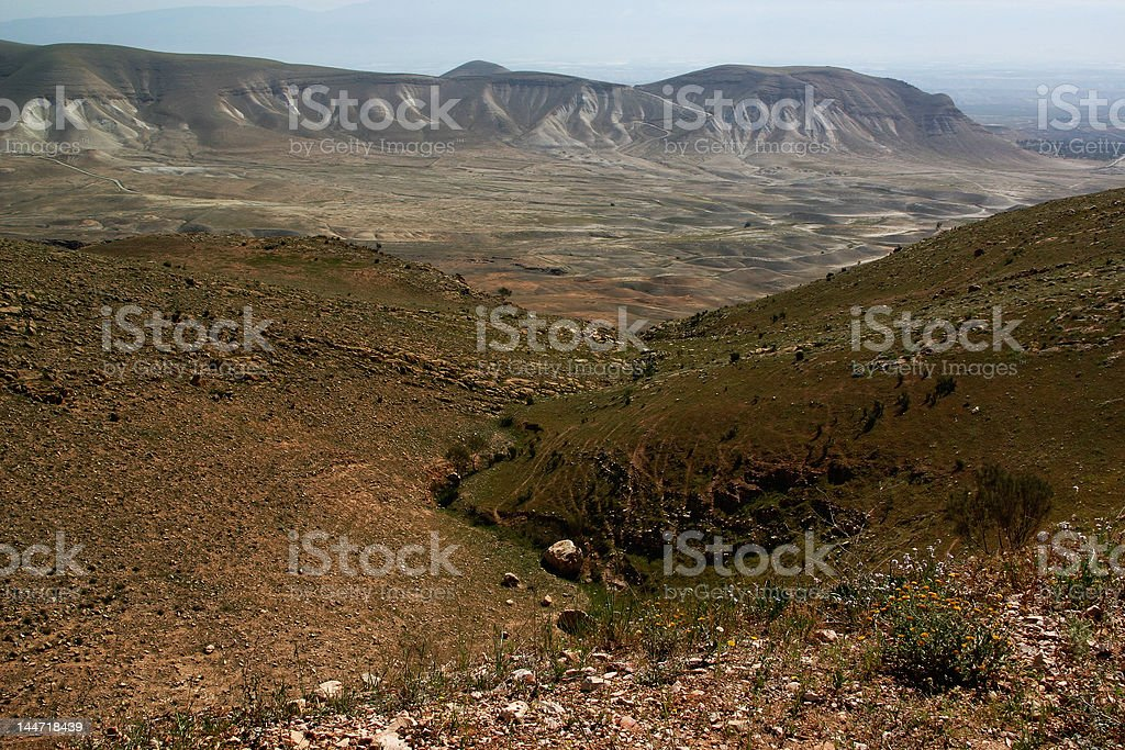 Jordanian valley royalty-free stock photo