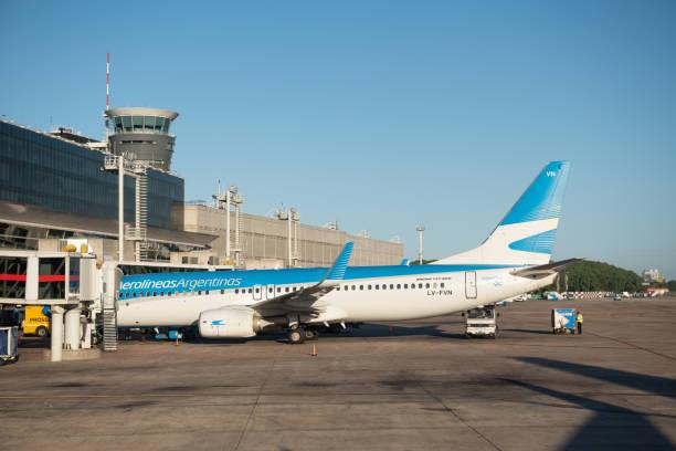 Jorge Newbery Airport stock photo