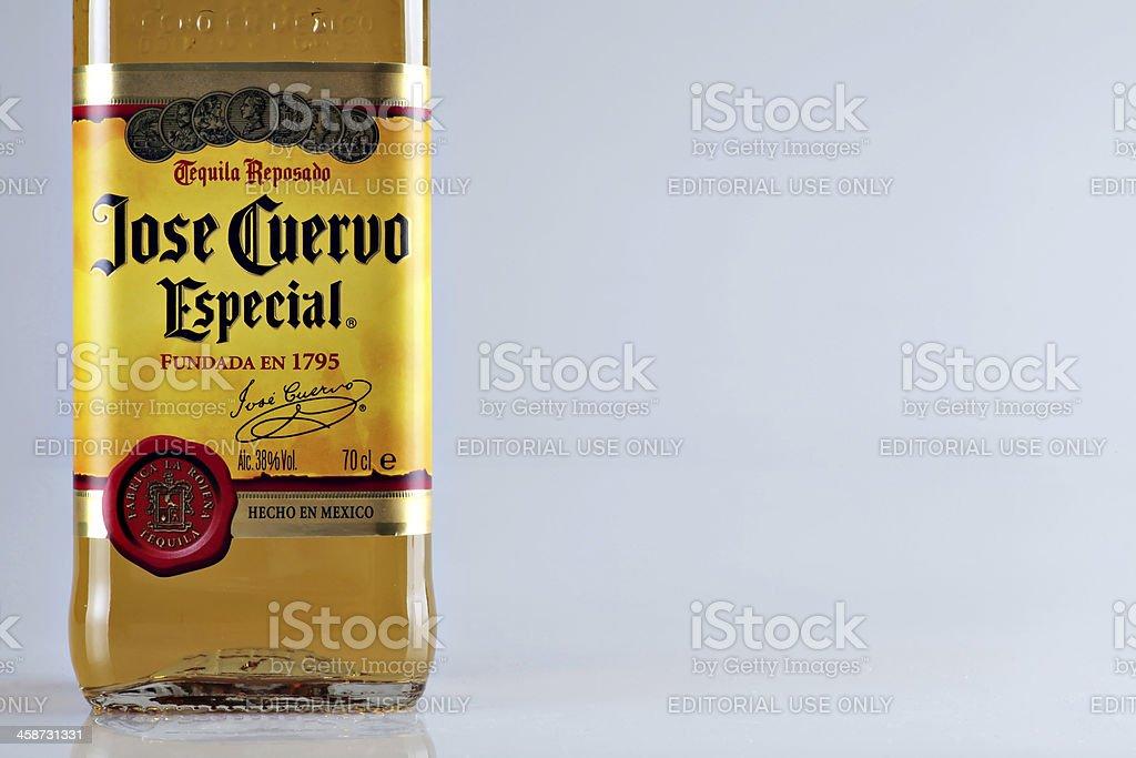 Jose Cuervo tequila bottle