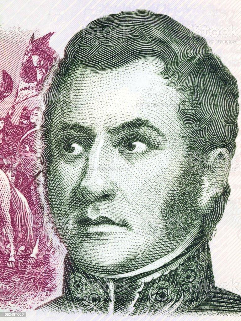 Jose de San Martín portrait Стоковые фото Стоковая фотография