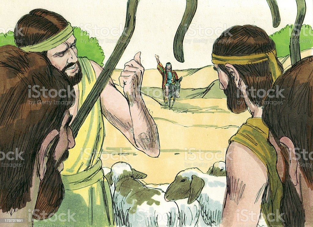 Joseph Finds Brothers stock photo