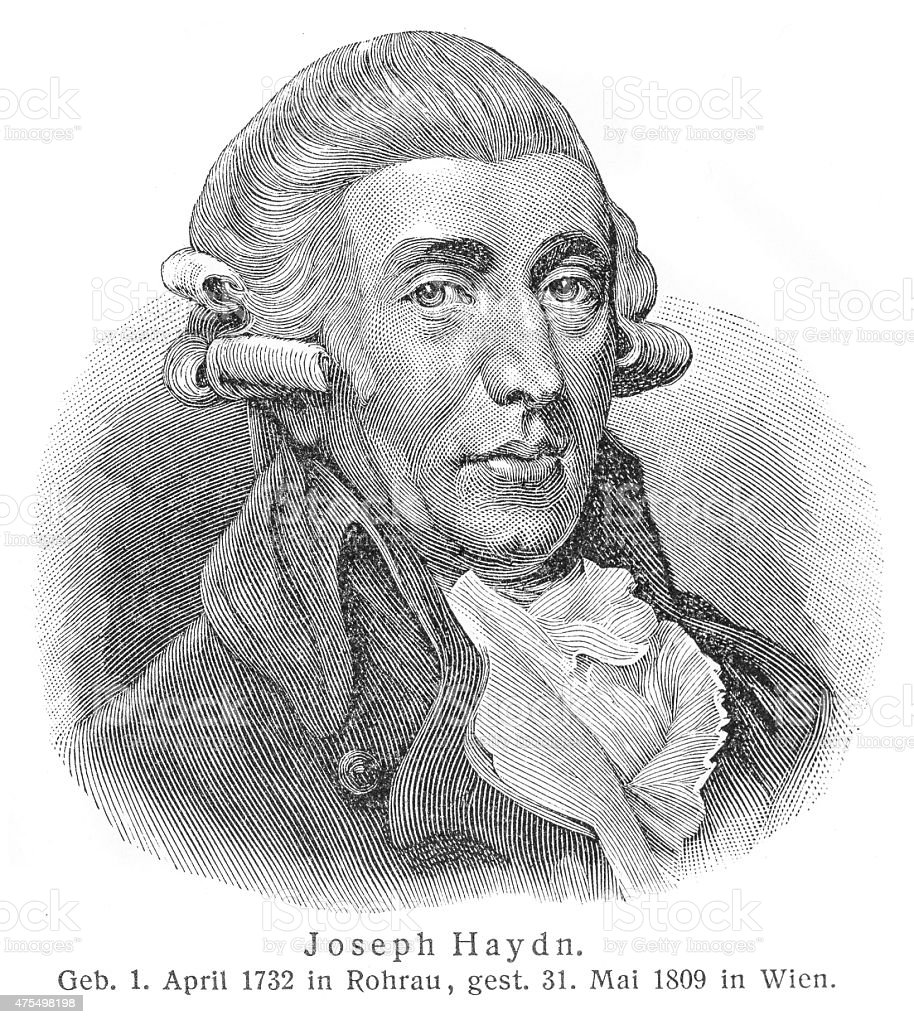 Joseph Haydn engraving stock photo