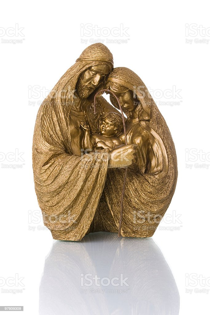 joseph, mary and jesus royalty-free stock photo