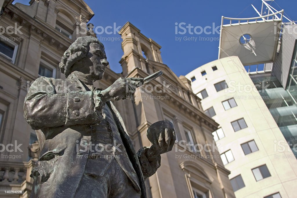 Joseph Priestley statue, Leeds City Centre, West Yorkshire stock photo