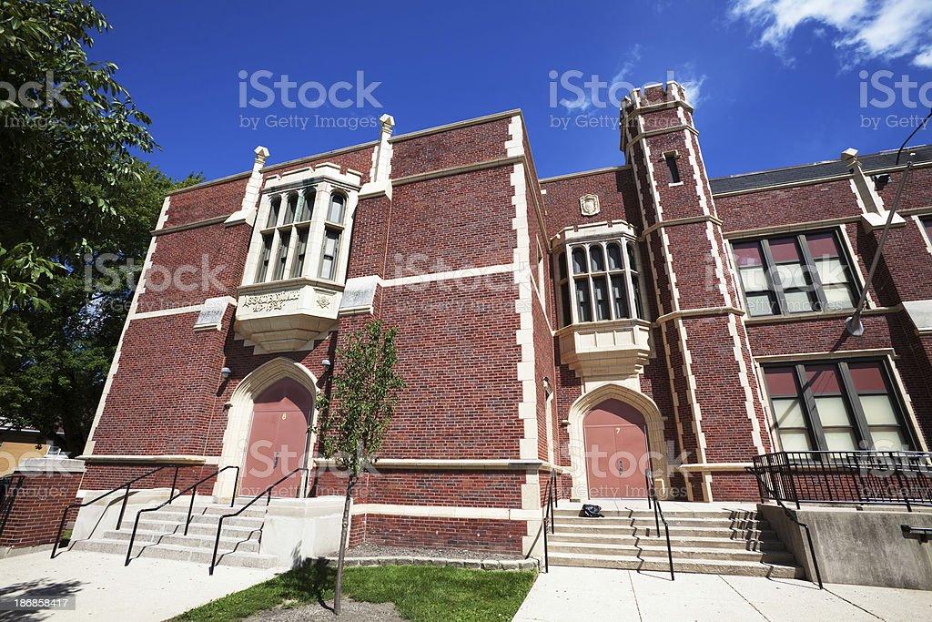 Josephine C Locke School in Montclare, Chicago royalty-free stock photo