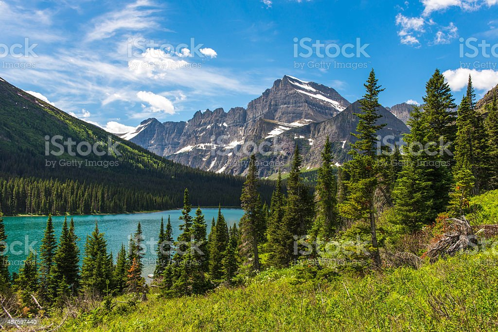 Josephine Lake, Montana stock photo