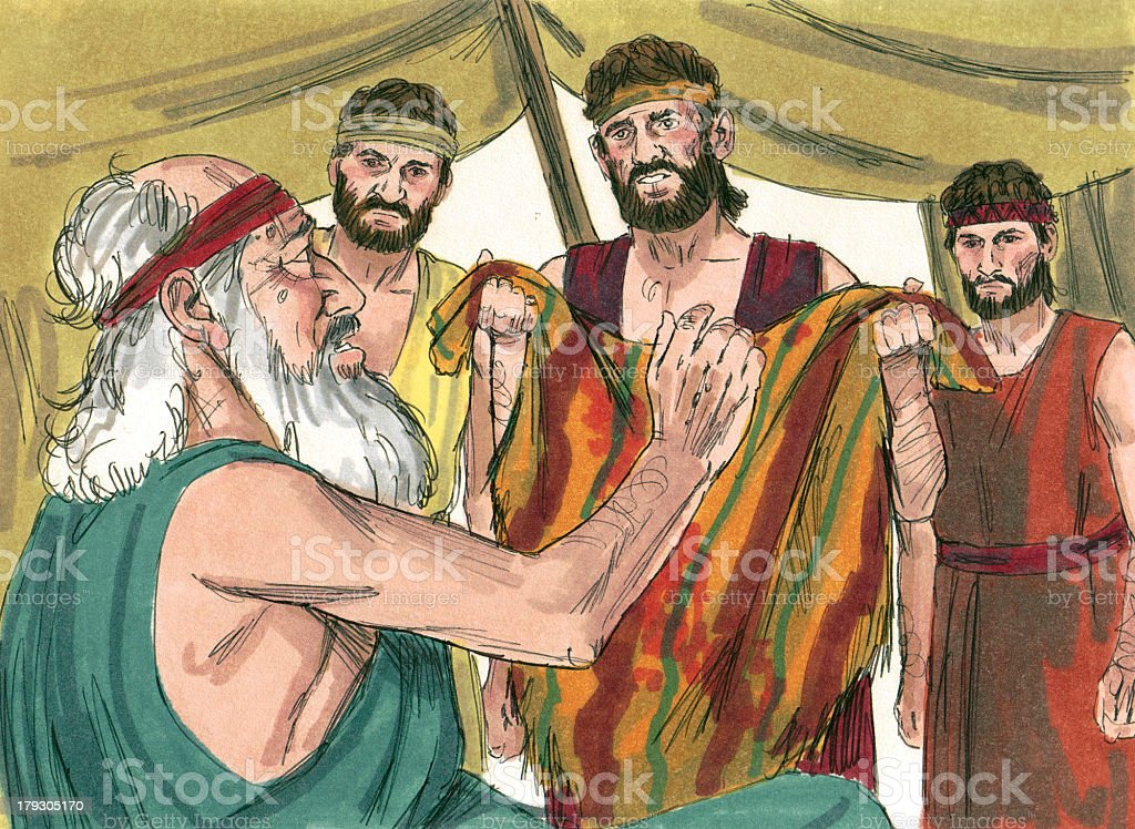 Joseph's Brothers Give Coat to Father stock photo