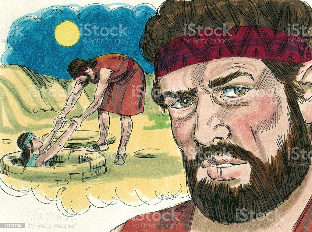 Joseph's Brother's Plan to Leave Joseph stock photo