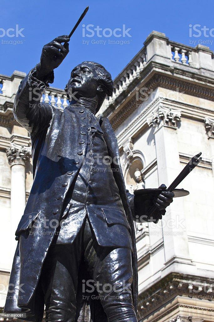Joshua Reynolds Statue at Burlington House stock photo