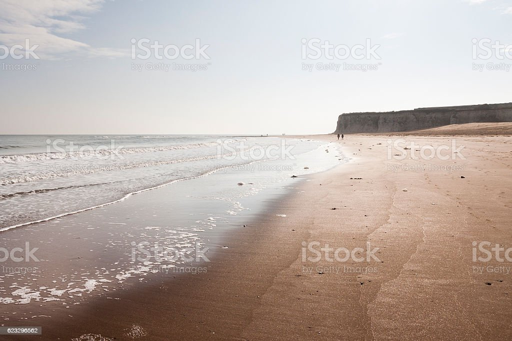 Joss Bay beach near Margate and Broadstairs in Kent, England stock photo