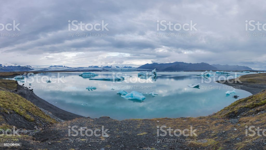 Joulsarlon glacier lagoon stock photo