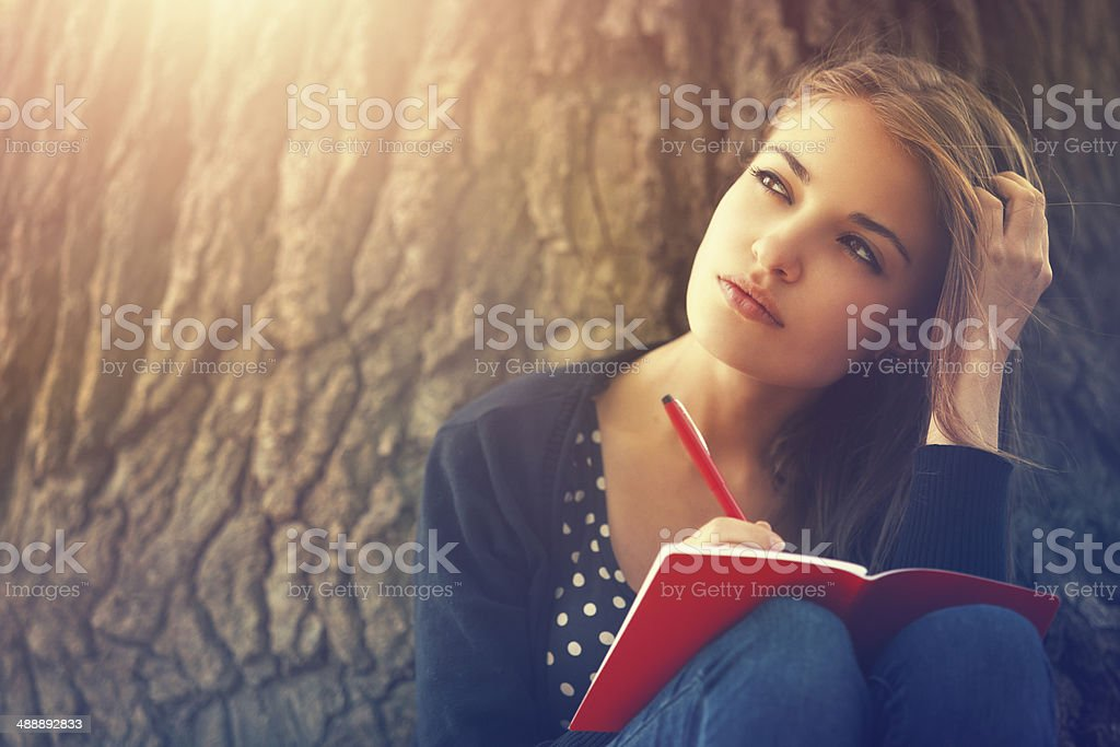Journal Writing stock photo