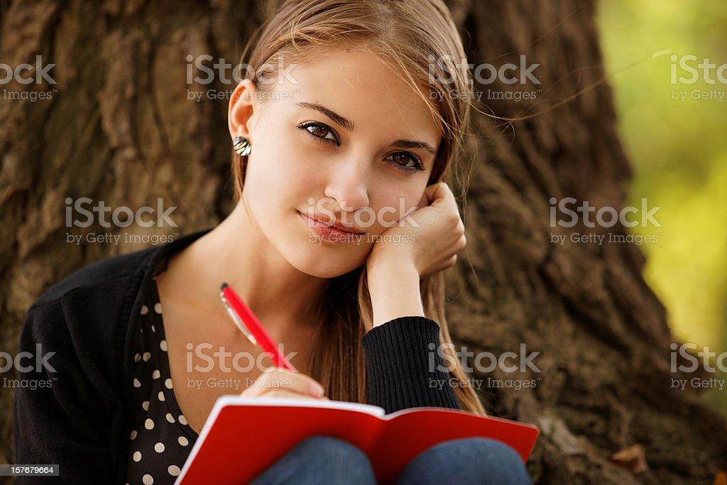Journaling stock photo