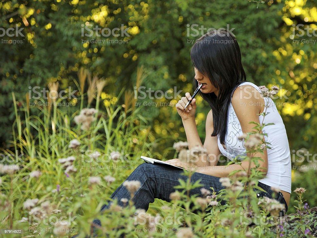 journaling royalty-free stock photo