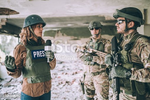 Young journalists reporting from the war zone