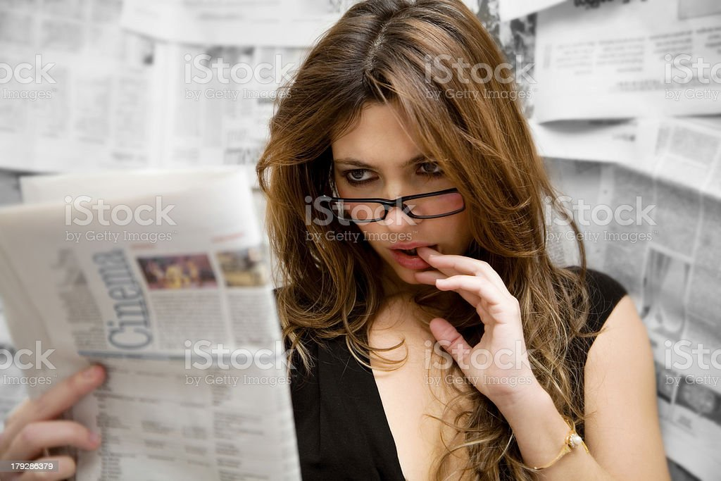 journalist royalty-free stock photo