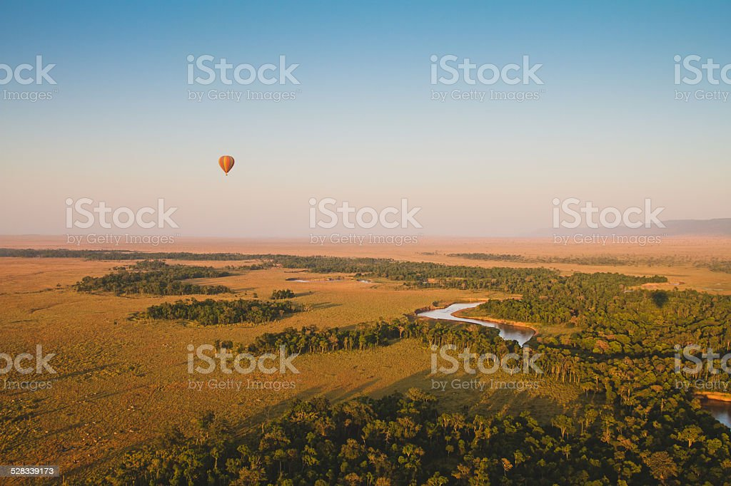 Journey across the Massai Mara stock photo
