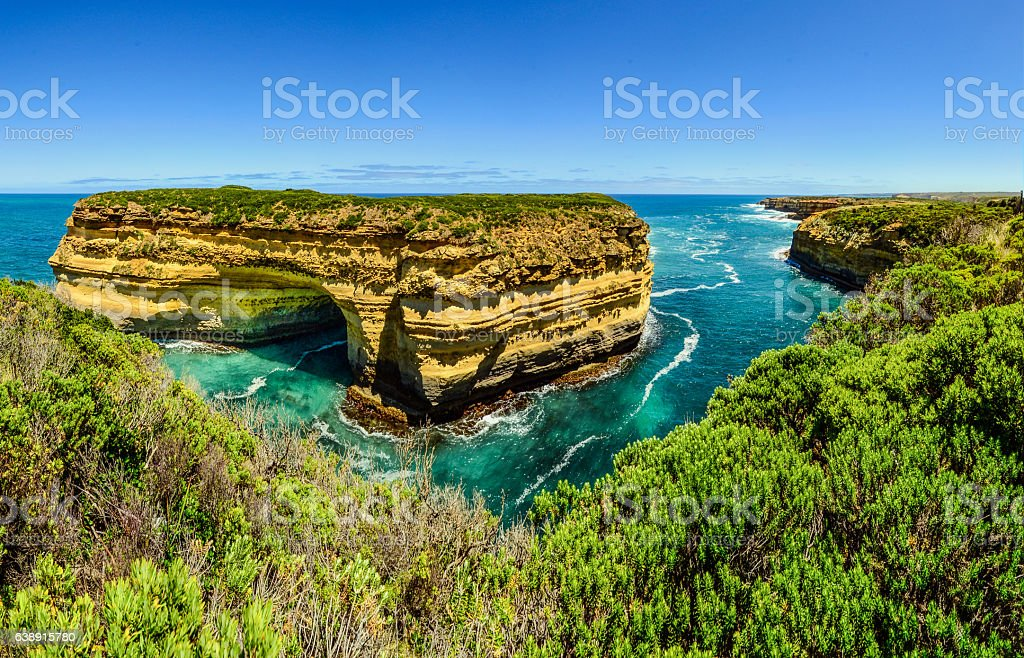 Journey along the great ocean road. stock photo