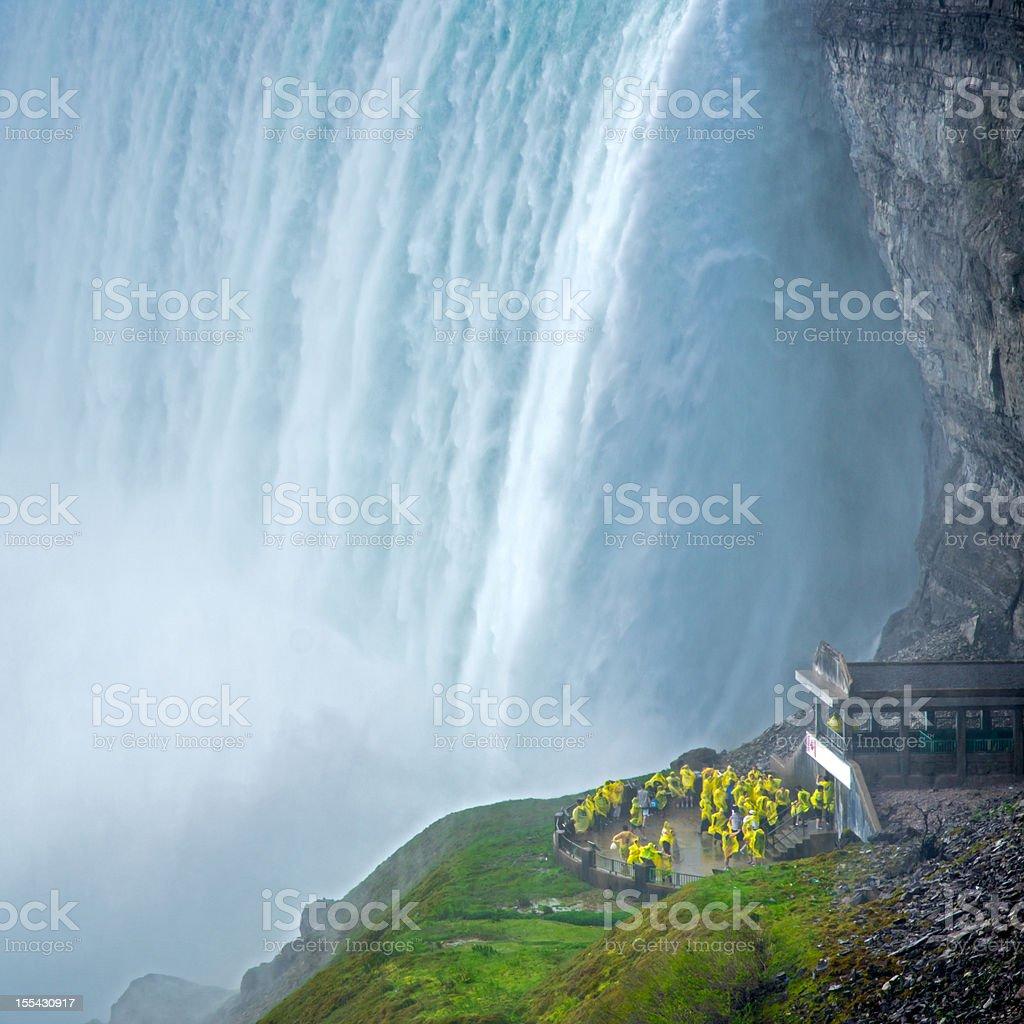 Journey behind Niagara Falls Canada stock photo