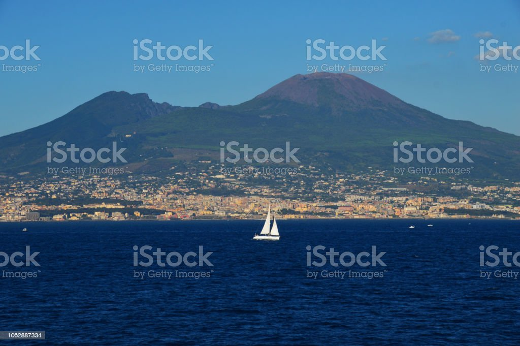 A journey in the blue sea stock photo