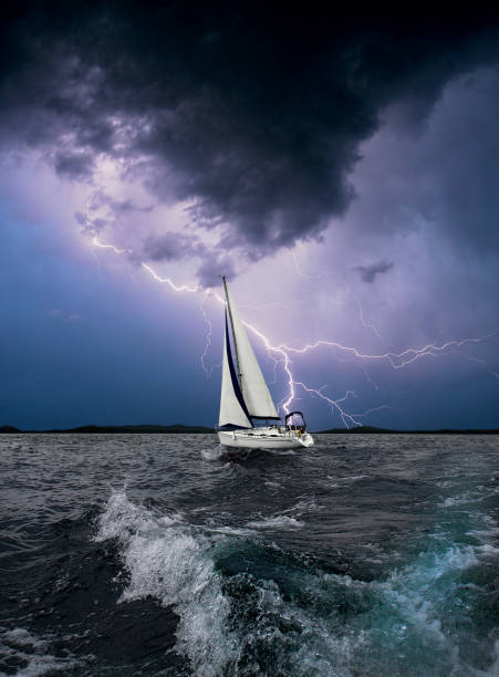 Journey on a sailing boat.Summer travel. - Photo