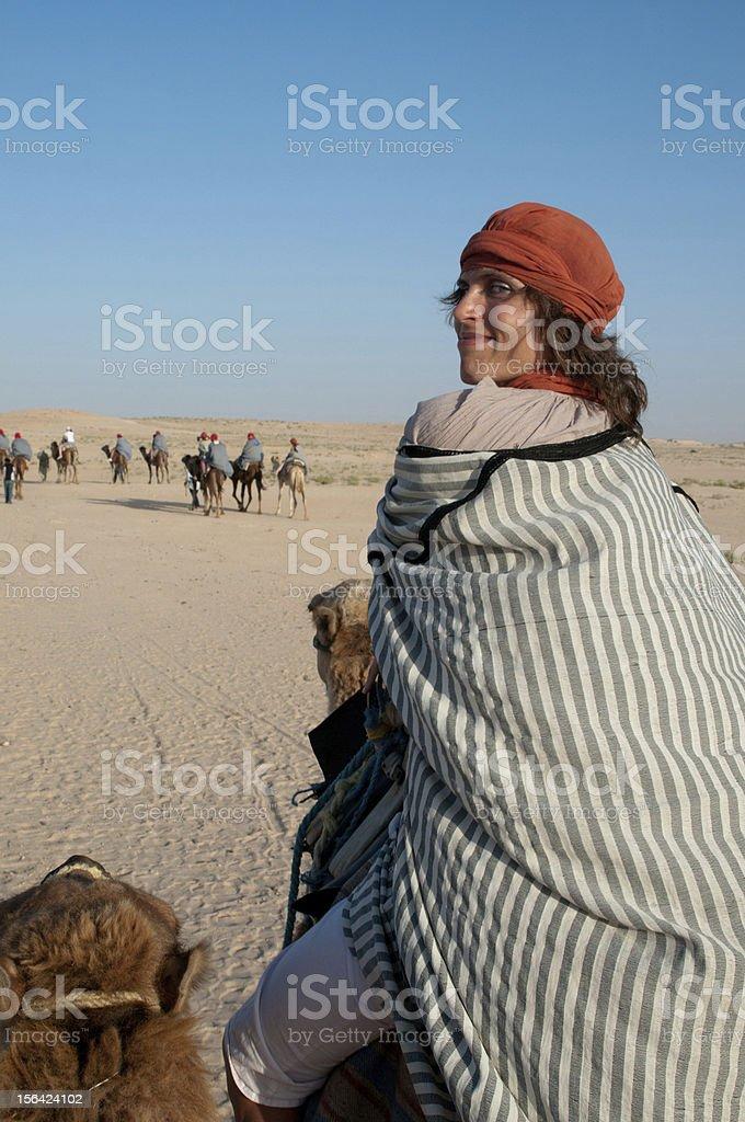 journey on camel royalty-free stock photo