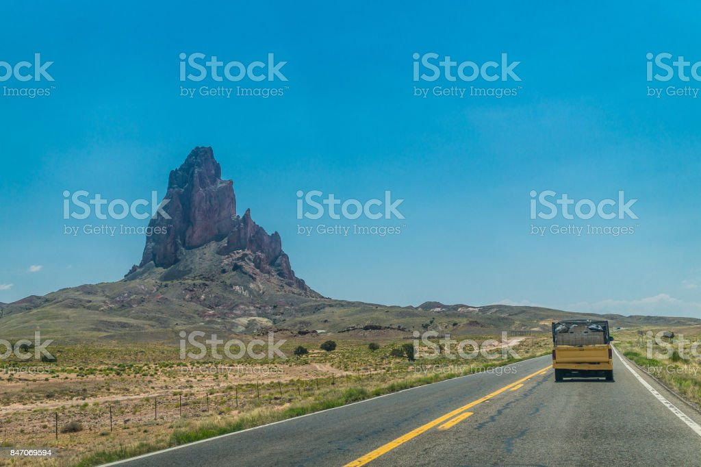 Journey to the south of the USA. Modern roads and stone landscapes of...