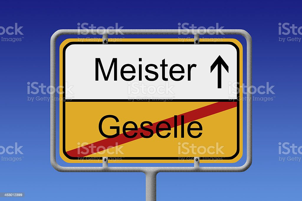 Geselle - Meister stock photo