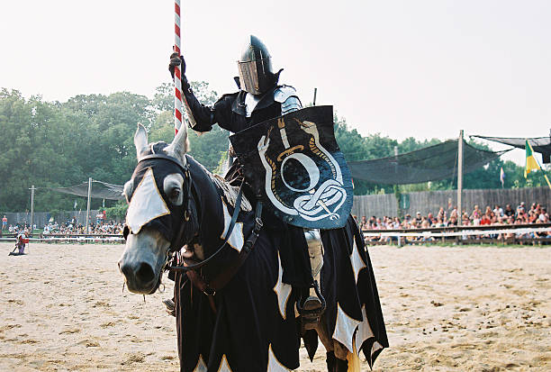 jousting knight - renaissance stock pictures, royalty-free photos & images