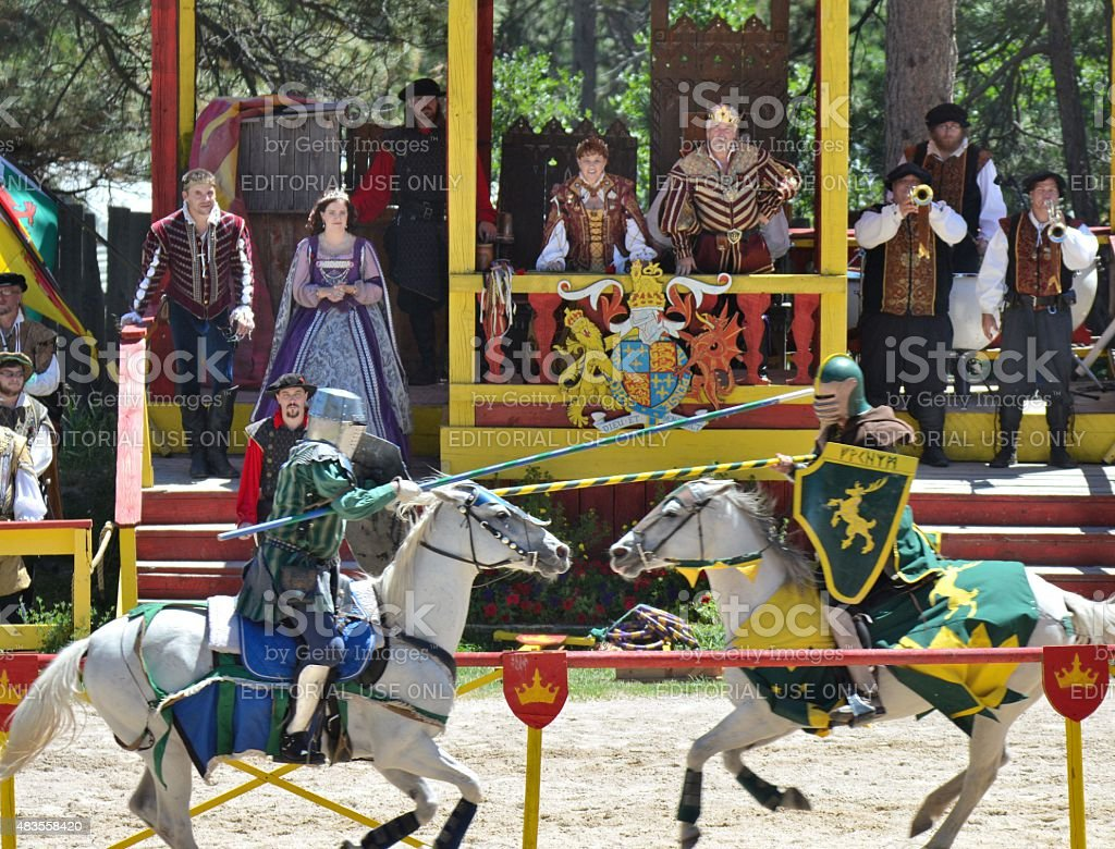 Jousting Knights stock photo