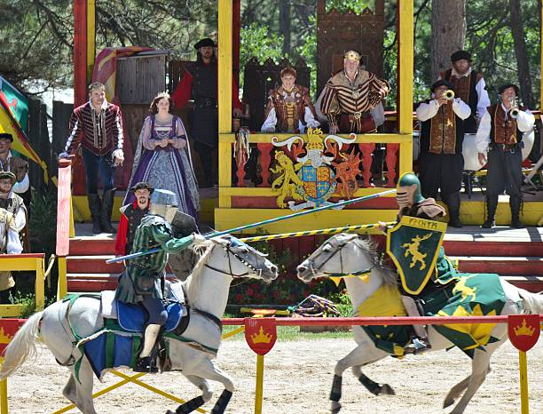 jousting knights - renaissance style stock photos and pictures