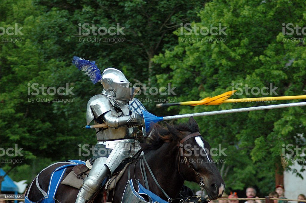 Jousting royalty-free stock photo