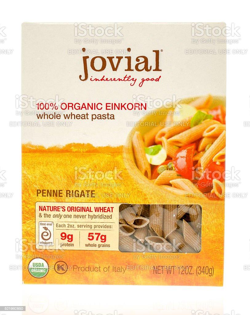 Jovial Whole Wheat Pasta stock photo