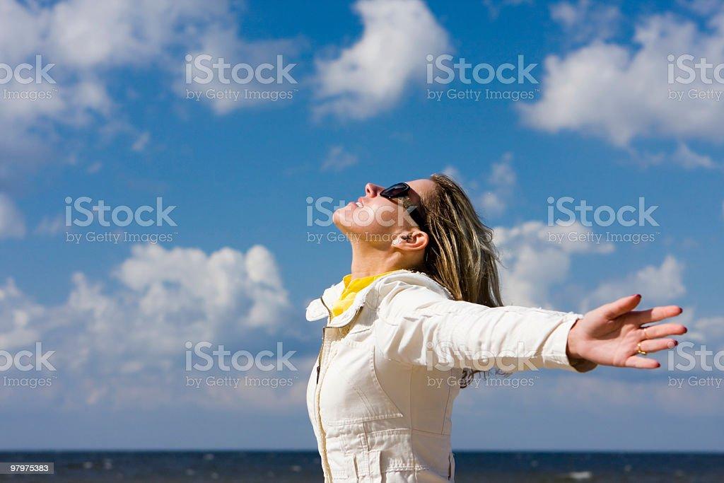 Joy to be free royalty-free stock photo