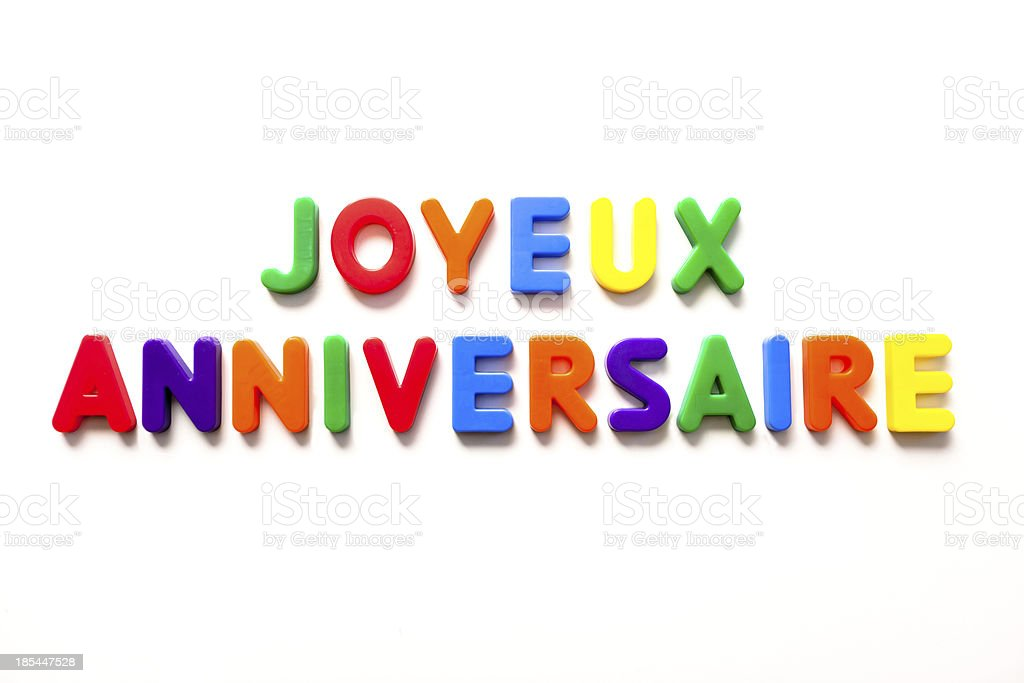joyeux anniversaire - french royalty-free stock photo