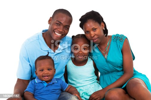 1126155137 istock photo joyful african american family isolated 160943182