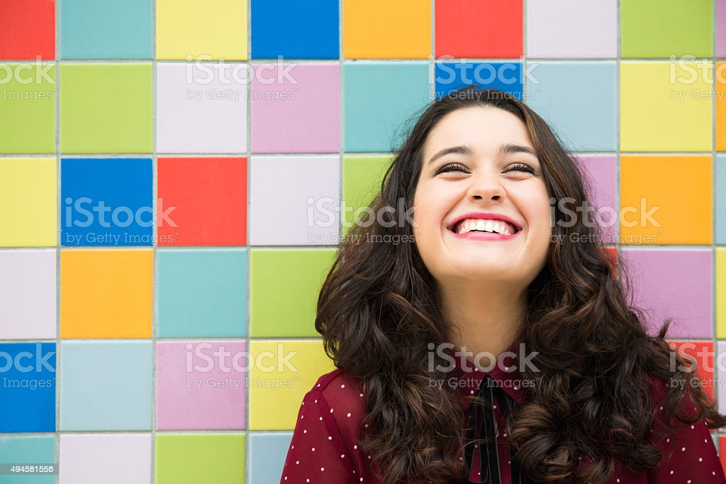 Joyful and optimistic girl stock photo