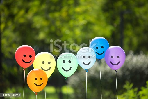 joyful balloon family.