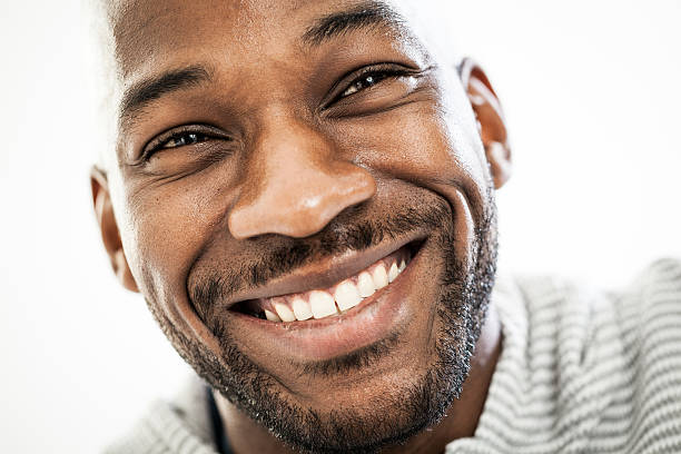 joyful black man - male eyes bildbanksfoton och bilder