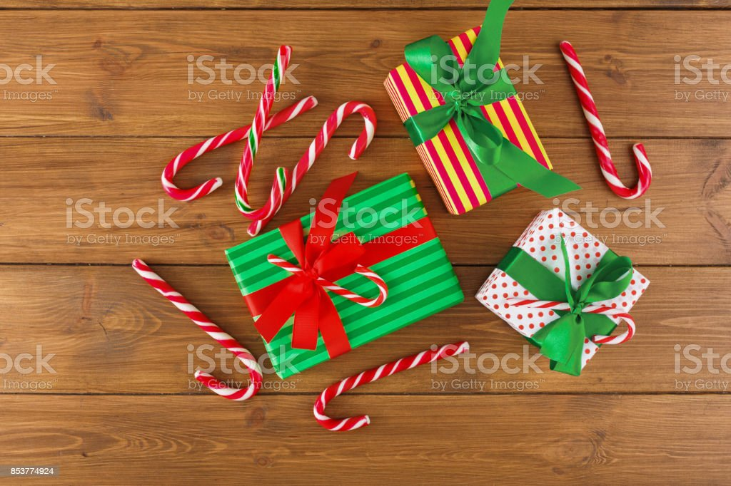 Joyful Christmas Background Top View Stock Photo & More Pictures of ...