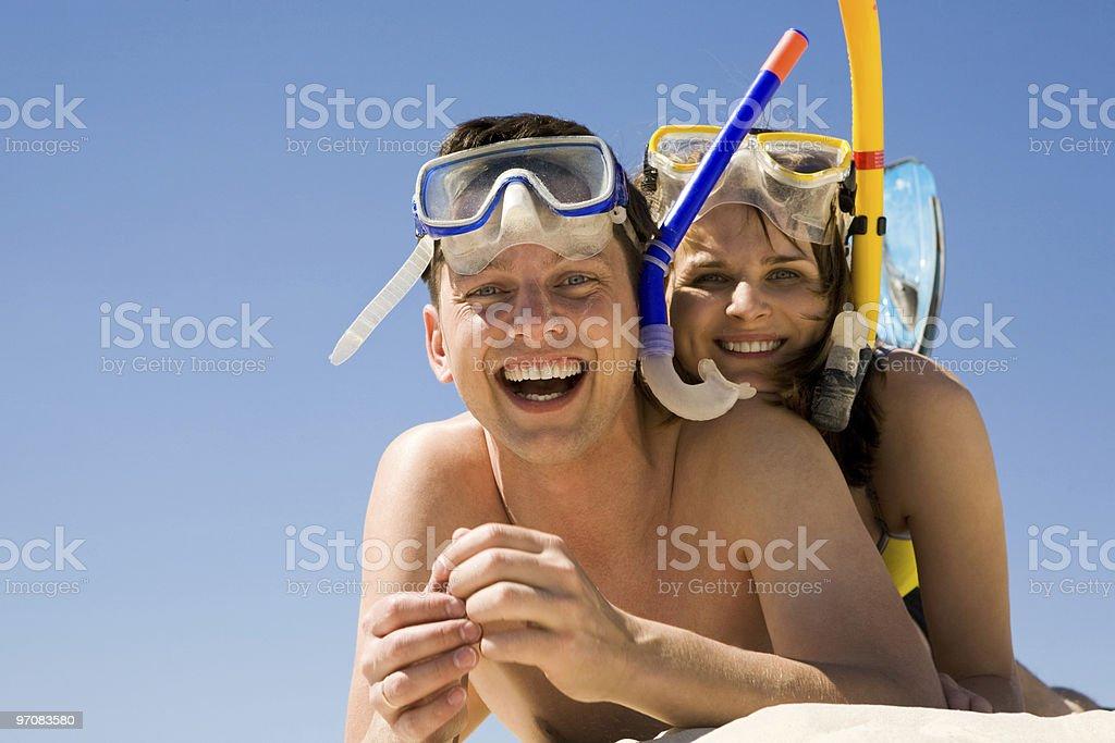 Joyful couple royalty-free stock photo