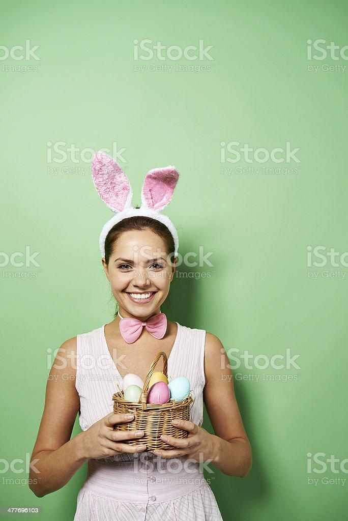 Joyful Easter stock photo