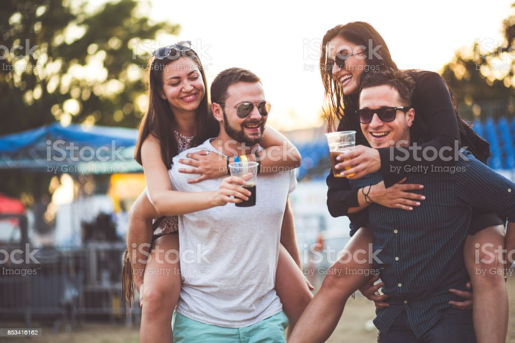 Joyful Festival Couples stock photo