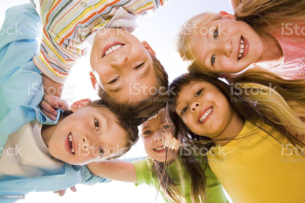 Joyful friends royalty-free stock photo