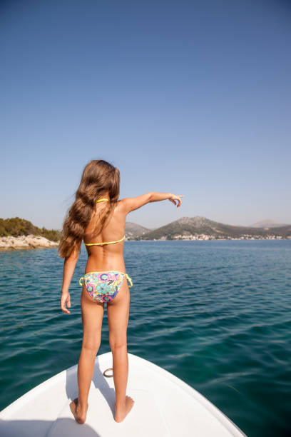 Best Child Bikini Little Girls Back Stock Photos, Pictures -3474